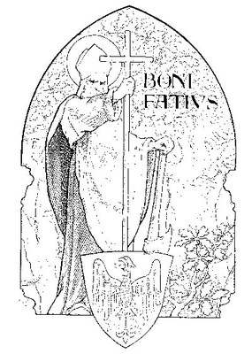 Hl. BONIFATIUS   idealisierte Darstellung, 1903
