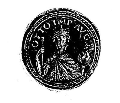 Münze mit Otto den III.