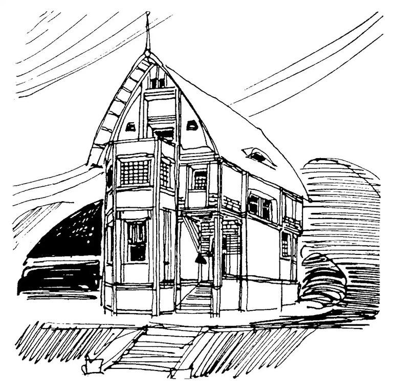 Entwurf für eine Villa im Jugendstil, 1904